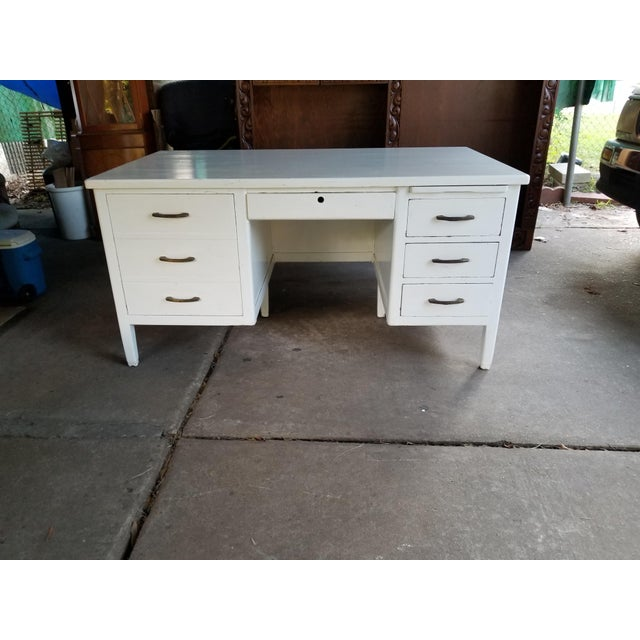Mid Century Modern Style Executive Desk For Sale - Image 4 of 13