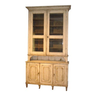 18th Century Gustavian Two-Piece Cabinet For Sale