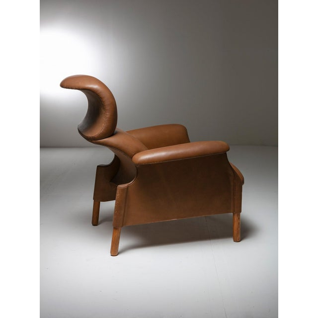 "Mid-Century Modern ""Sanluca"" Leather Lounge Chairs by Castiglioni for Gavina For Sale - Image 3 of 8"