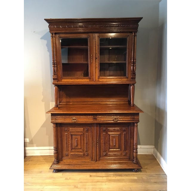 Brown Antique French Carved Cabinet For Sale - Image 8 of 8 - Antique French Carved Cabinet Chairish