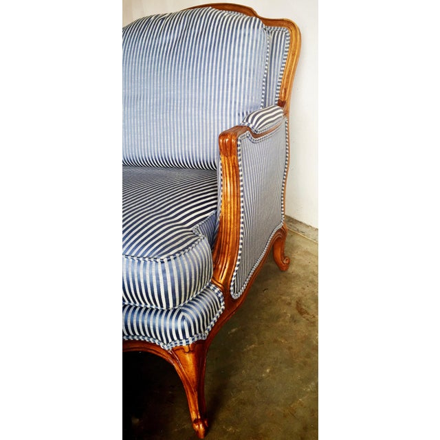 Vintage Heritage Bergere Chair & Ottoman - Image 9 of 10