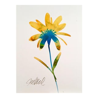 Yellow Top, Original Watercolor Painting, For Sale