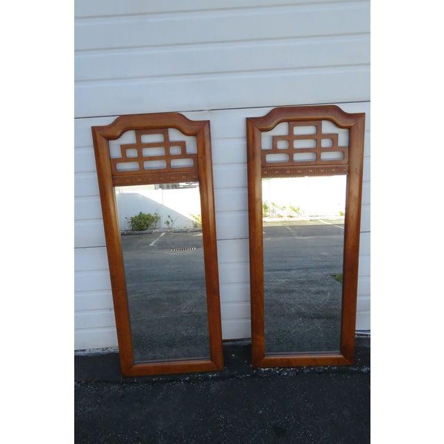Hollywood Regency Pair of Wall Bathroom Vanity Mirrors by Henry Link For Sale - Image 12 of 13
