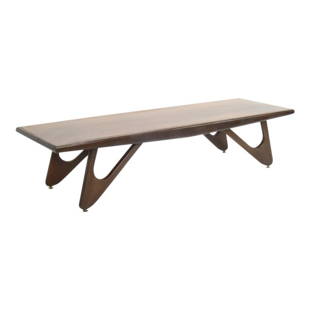 411a09aab27a Mersman Mid-Century Modern Adrian Pearsall Attributed Walnut Surfboard Coffee  Table For Sale