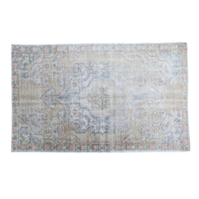 "Gold Leaf Distressed Oushak Rug - 4'3"" X 6'9"" - Image 1 of 5"