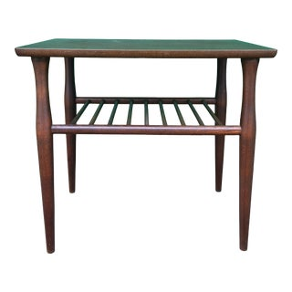Mid Century Modern Walnut End Table by Baumritter For Sale