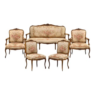 Aubusson Parlor Suite For Sale