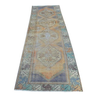 Antique Turkish Oushak Runner - 2′9″ × 9′10″