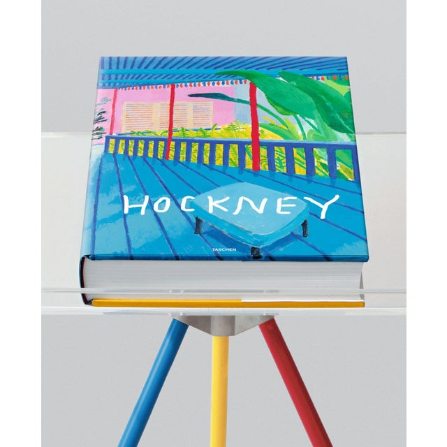 """Autographed David Hockney """"A Bigger Book"""" Painting Collection with Book Stand Collector's Edition For Sale - Image 13 of 13"""