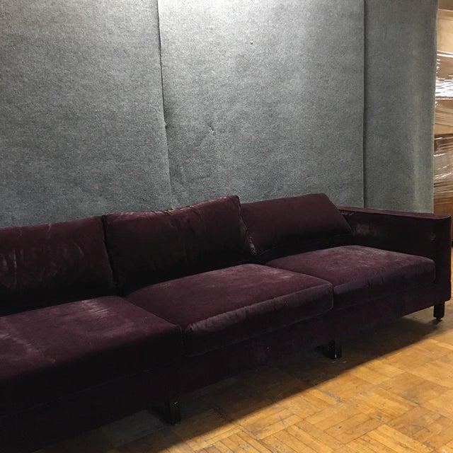 Dialogica Purple Velvet 10-Foot Custom-Made Sofa - Image 5 of 11