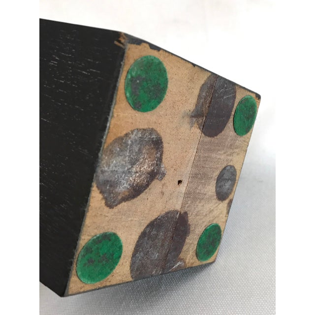 Abstract Bronze Sculpture on Wood Base - Image 7 of 7