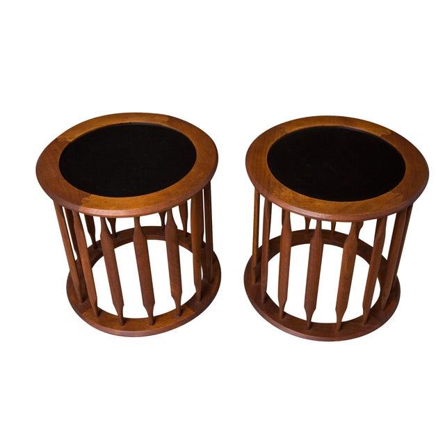 Pair Kipp Stewart Pedestal Side Tables - Image 1 of 4