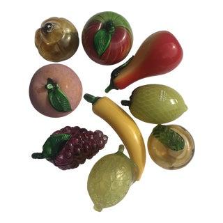 Vintage Italian Murano Glass Vegetables & Fruit - Set of 9 For Sale