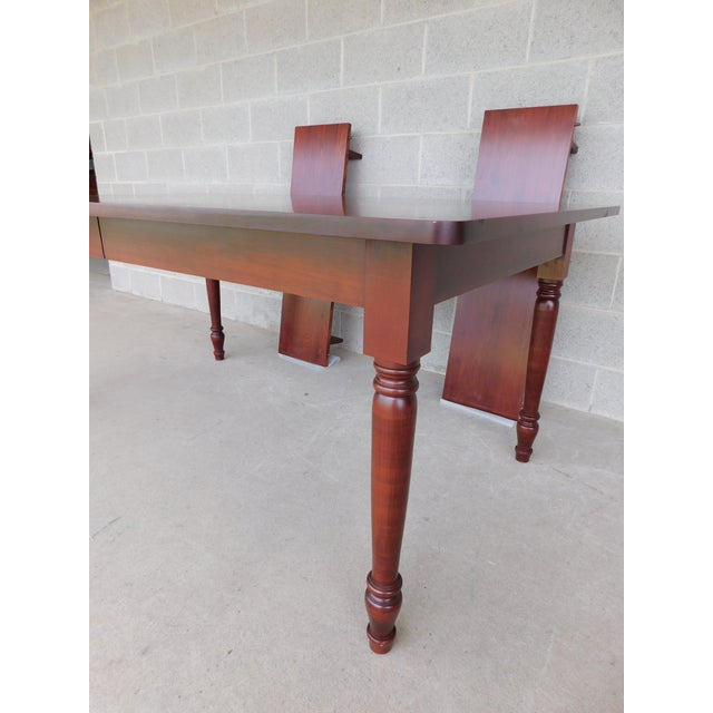 Tom Seely Solid Cherry Country Style Dining Table For Sale - Image 9 of 11