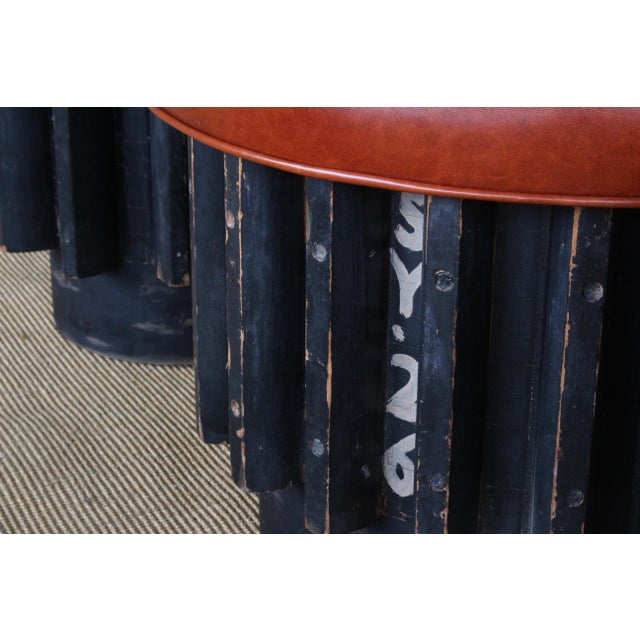 Industrial Gear Cog Stools, California, 1940s For Sale - Image 10 of 11