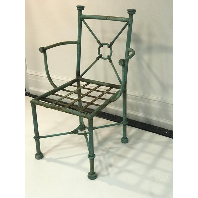Light Green Giacometti Style Chairs - Set of 6 For Sale - Image 8 of 10