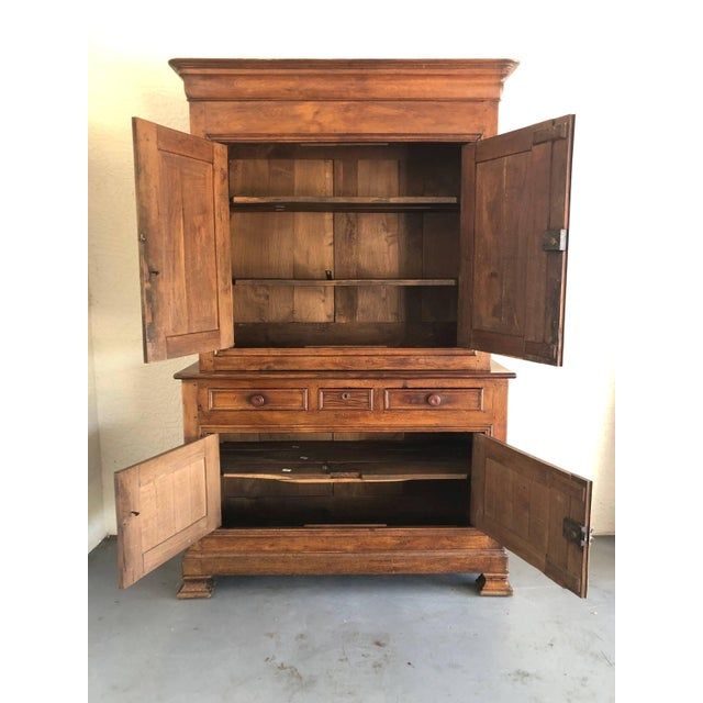 French French 19th Century Walnut Deux Corps Buffet Cabinet For Sale - Image 3 of 13