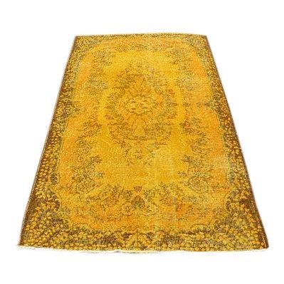 """Yellow Turkish Rug -- 3'11"""" X 6'9"""" - Image 1 of 6"""