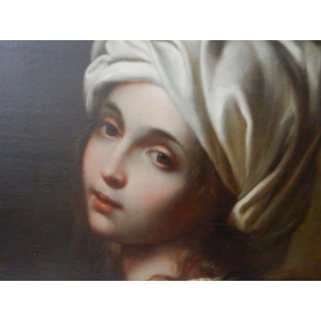 Blue 19th Portrait of Beatrice Cenci For Sale - Image 8 of 10
