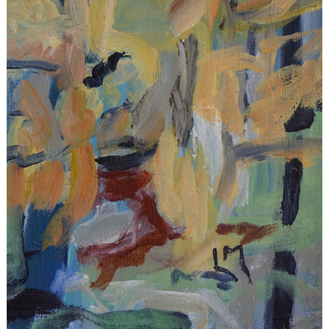 """2010s Laurie MacMillan """"Great Outdoors"""" Abstract Painting, Framed For Sale - Image 5 of 6"""