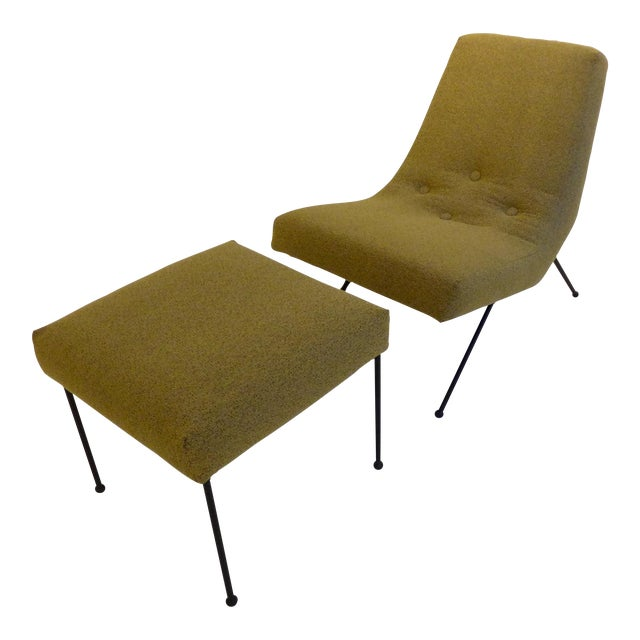 Lounge Chair with Ottoman by Adrian Pearsall For Sale
