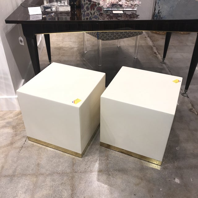 French French Lacquered Drink Tables - a Pair For Sale - Image 3 of 7