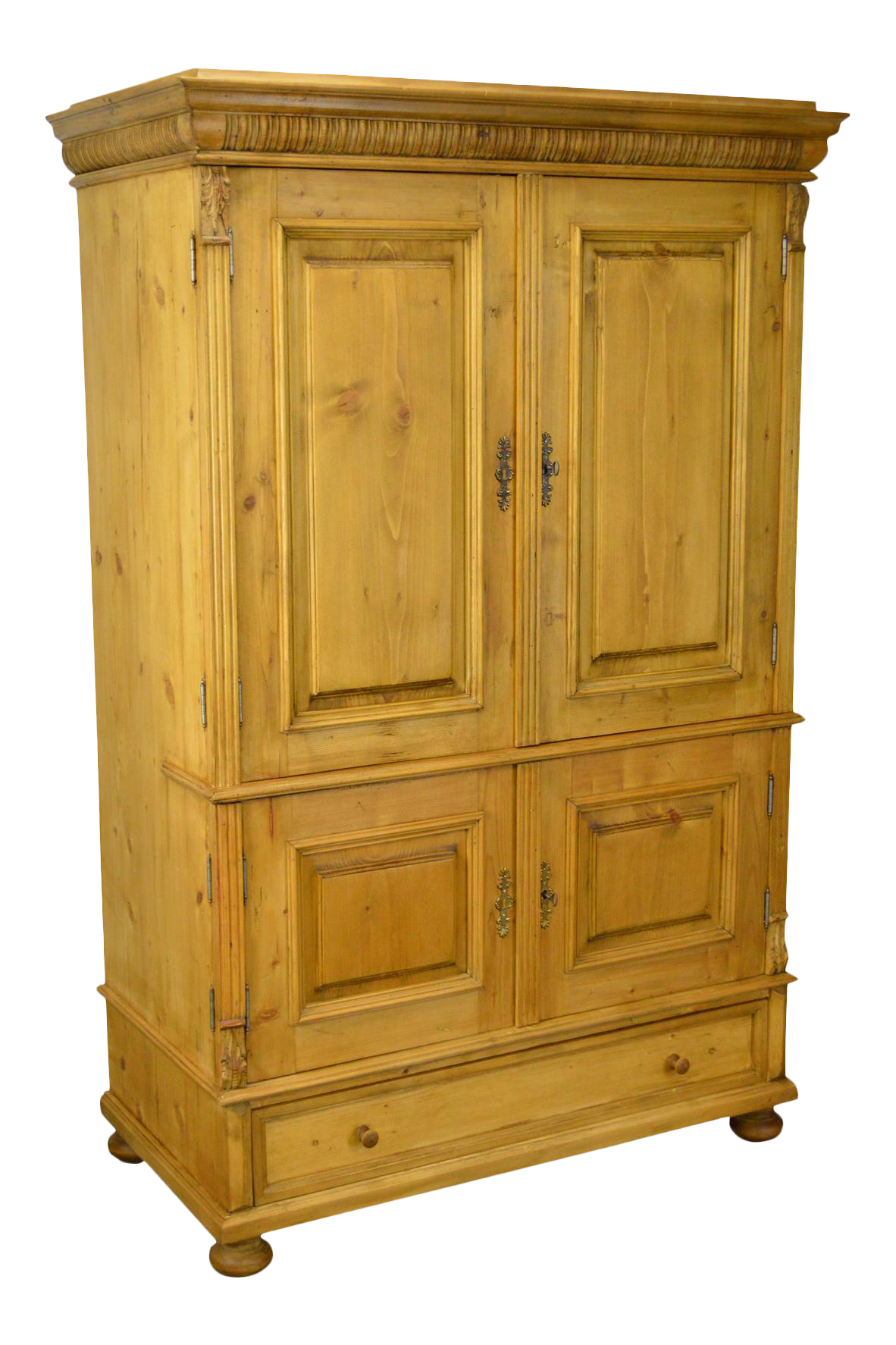 Country Pine Custom Crafted Large Entertainment TV Cabinet Armoire