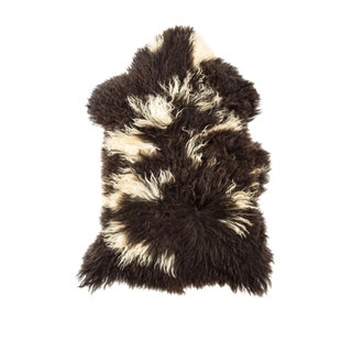"Contemporary Natural Wool Sheepskin Pelt - 2'3""x3'2"" For Sale"