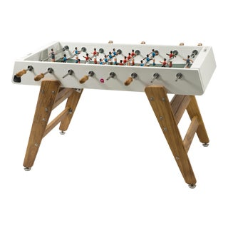 RS Barcelona Wood Foosball Table, White For Sale