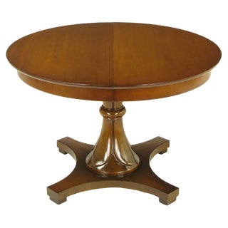 Lorin Jackson for Drexel Reverse Quatrefoil Base Pedestal Table For Sale