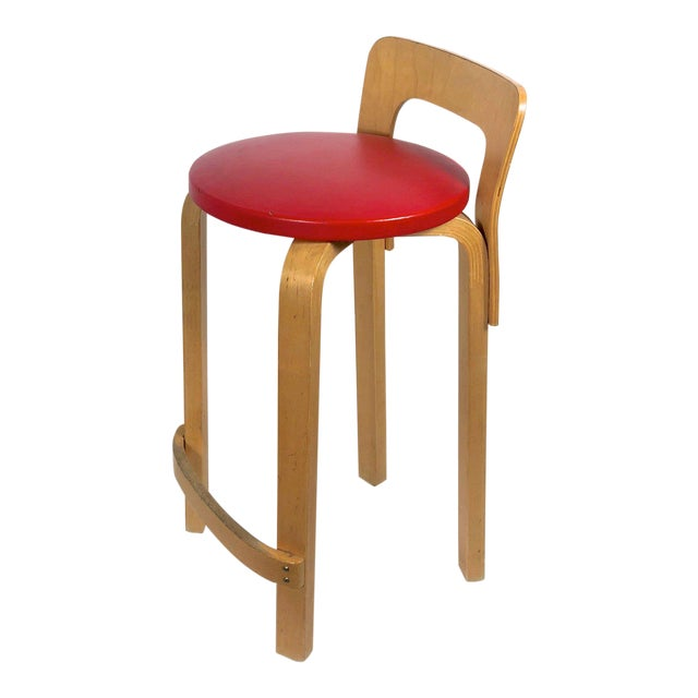 Alvar Aalto by Artek K65 Highback Chair Finland 1940's For Sale