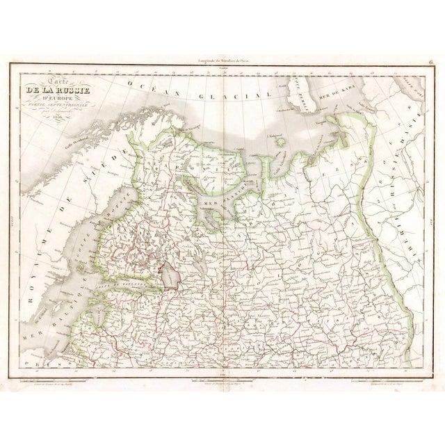 Antique European Russia Map 1836 Chairish