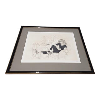 "Al Hirschfeld ""Tallulah Bankhead"" Hand Signed Limited Edition Etching For Sale"