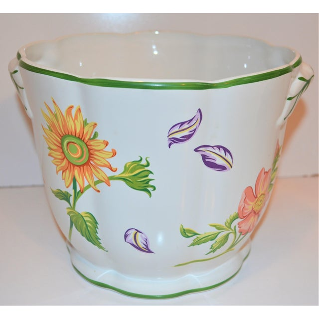 "White Vintage Tiffany & Company ""Petals"" Cachepot For Sale - Image 8 of 13"