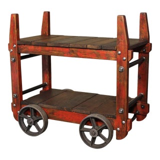 Industrial Bar Cart For Sale