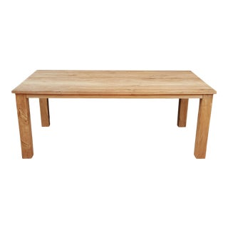 Massive Reclaimed Teak Dining Table For Sale