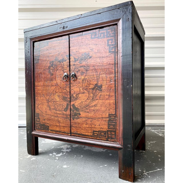 Late 19th Century Antique Mongolian Chinese 2 Door Cabinet For Sale - Image 11 of 11