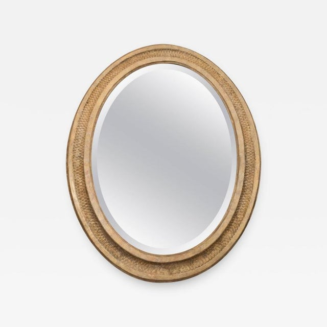 19th Century French Giltwood Oval Mirror For Sale - Image 5 of 5