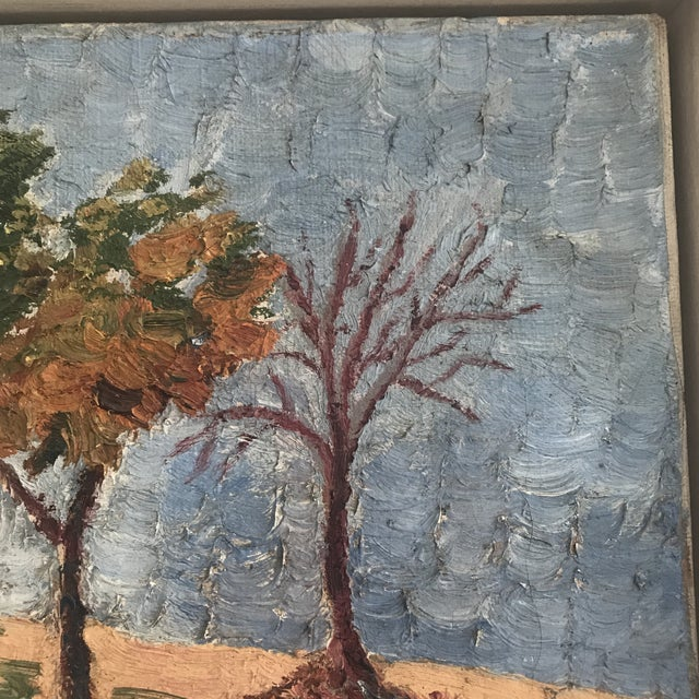 Vintage Impasto Landscape Painting For Sale In Washington DC - Image 6 of 8