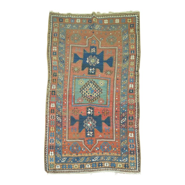 Antique Caucasian Rug, 4'6'' x 8' For Sale