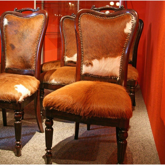 "Italian Italian ""English Makers"" Mahogany Chairs For Sale - Image 3 of 9"