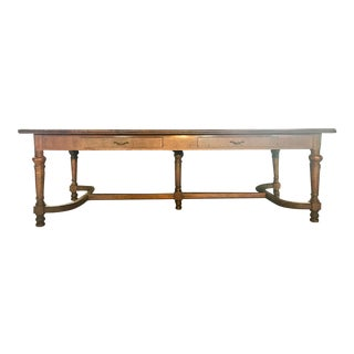 "96"" Antique Jacobean Refectory/Manor Dining Table For Sale"