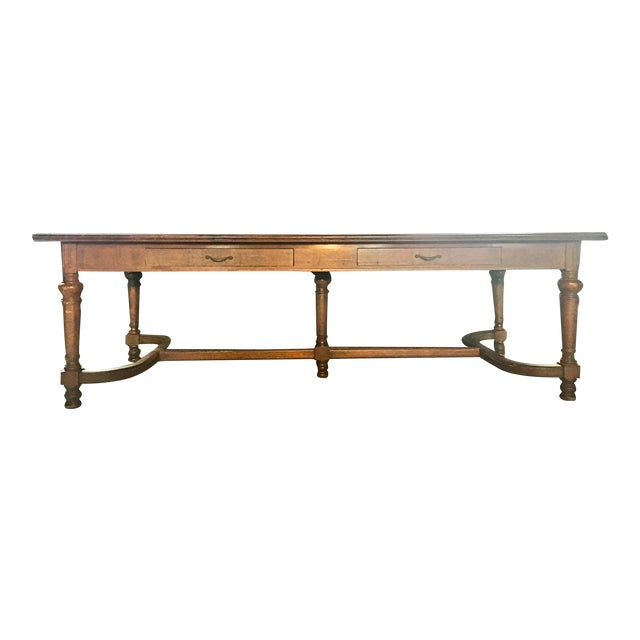 """96"""" Antique Jacobean Refectory/Manor Dining Table For Sale"""