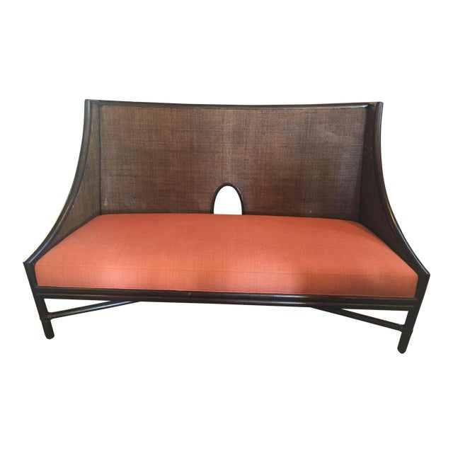 McGuire Bamboo Frame Cane Bench - Image 1 of 5