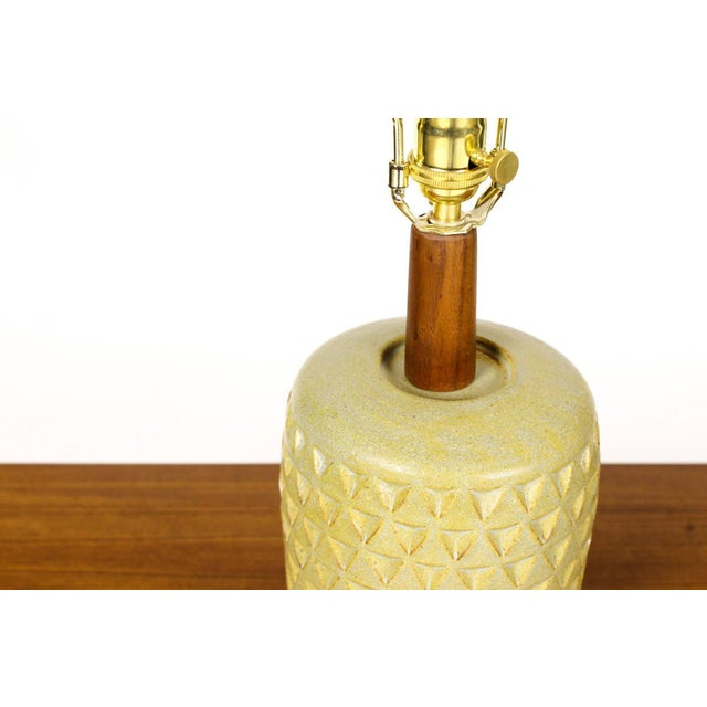 Christian Boehr Ceramic Stoneware Table Lamp For Sale - Image 4 of 5