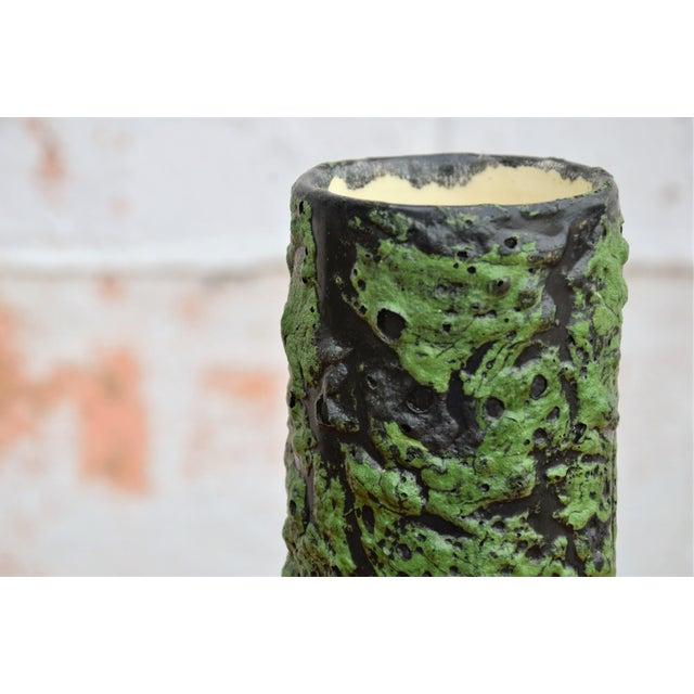 Mid 20th Century Vintage Mid-Century Fat Lava Glaze Vase For Sale - Image 5 of 7