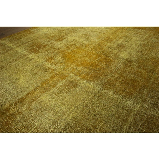 "Gold Wash Overdyed Tabriz Rug - 9' 6"" x 12' 5"" - Image 4 of 9"