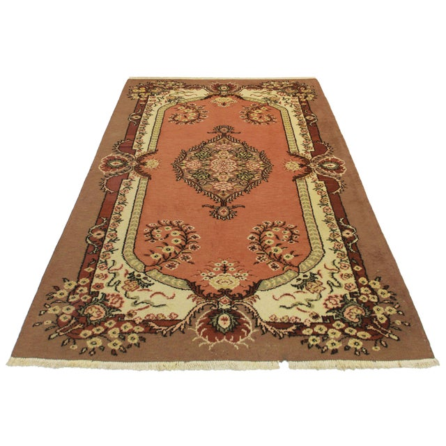 "RugsinDallas Hand Knotted Wool Turkish Rug - 5'7"" X 8'5"" - Image 2 of 2"