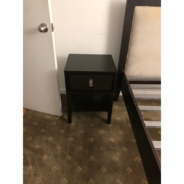 Contemporary West Elm Niche Chocholate Brown Nightstand For Sale - Image 3 of 3