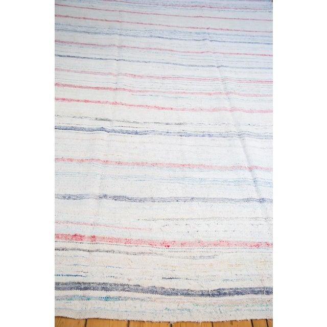 "Vintage Handwoven Rag Rug - 6'7"" x 10'10"" - Image 5 of 8"